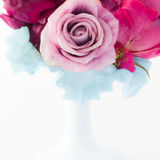 The FlowerGirl. Colourfull photo with flowers in a beautifull vase, abstract Royalty Free Stock Image