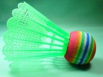 Colourfull plastic shuttlecock Stock Photos