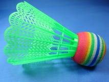 Colourfull plastic shuttlecocks Royalty Free Stock Images