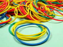 Colourfull rubber bands Stock Image
