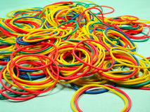 Colourfull rubber bands Royalty Free Stock Photography