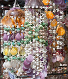 Colourfull shell decor Royalty Free Stock Images