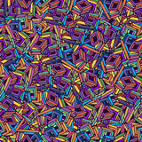Colourfull squer pattern Stock Photo