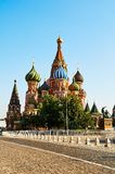 Street view of the roof of Saint Basils cathedral Red square Mos royalty free stock photography