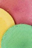 Colourfull-Waffeln Strukturierter abstrakter Hintergrund Abschluss oben Flache Lage Lizenzfreie Stockfotografie