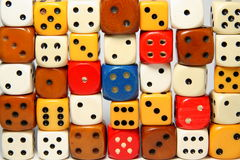 Wall of dices Royalty Free Stock Photography
