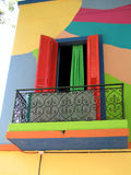 Colourfull window. In Boca, near Buenos Aires, Argentina Royalty Free Stock Photography