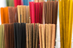 Colourfull wodden rods Stock Photography