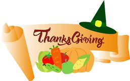 Colourfullbanner voor thanksgiving day vectoreps10 stock foto