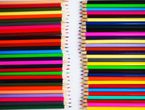 Colourfully crayon. The painting is beautiful with crayons Stock Photos