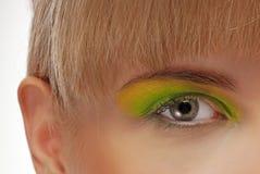 Colourfully målat öga Royaltyfri Fotografi