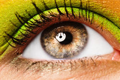 Colourfully painted eye Stock Photo