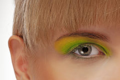 Colourfully painted eye Royalty Free Stock Photography
