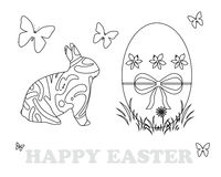 Colouring book for children. Colouring book with Easter theme vector illustration