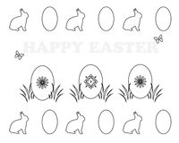 Colouring book. With Easter theme vector illustration