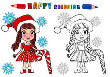 Colouring book isolated Stock Images