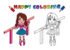 Colouring book isolated Royalty Free Stock Photography