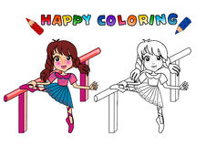Colouring book isolated Stock Photos
