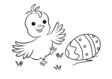 Colouring for children, Easter. Coloring page stock images