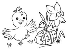Colouring for children, Easter royalty free stock photo