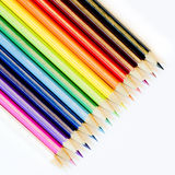 Colouring crayon isolated. Colouring crayon pencils on line Stock Photography