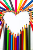 Colouring crayon pencils Royalty Free Stock Image