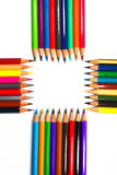Colouring crayon pencils Royalty Free Stock Photos