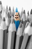 Colouring crayon pencils. Leadership concept. Royalty Free Stock Photos
