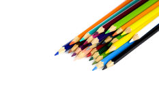 Colouring crayon pencils on white background Stock Photos