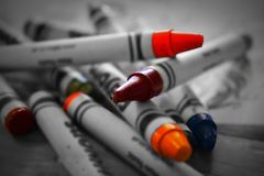 Colouring crayons make a great picture royalty free stock photography