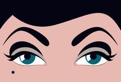 Colouring of eyelashes and eyebrows Stock Photo