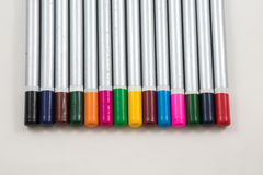 Colouring pencil ends showing Pencil Colour Royalty Free Stock Images