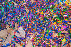 Colouring pencil sharpenings Stock Images