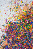 Colouring pencil sharpenings Stock Photo