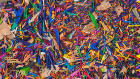 Colouring pencil sharpenings Royalty Free Stock Image