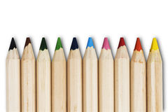 Colouring Pencil. In Various Colour on White Background Royalty Free Stock Images