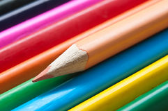 Colouring pencils alignment texture Royalty Free Stock Image