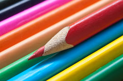 Colouring pencils alignment texture Royalty Free Stock Photo