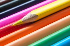 Colouring pencils alignment texture Stock Photography