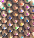 Colouring pencils - facing forward. Some different coloured pencils facing forwards Royalty Free Stock Images