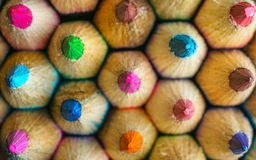 Colouring pencils. A group of colouring pencils Stock Images