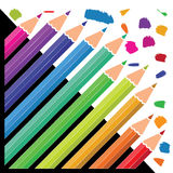 Colouring pencils for junior artists stock illustration