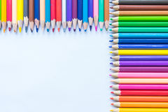 Colouring pencils. A selection of colouring pencils Royalty Free Stock Photo