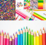 Colouring pencils. A selection of colouring pencils Stock Photo