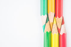 Colouring pencils. A selection of colouring pencils Royalty Free Stock Photos