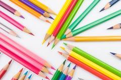 Colouring pencils. A selection of colouring pencils stock photos