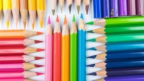 Colouring pencils. A selection of colouring pencils stock photo