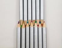 Colouring Pencils tip to tip Stock Photos