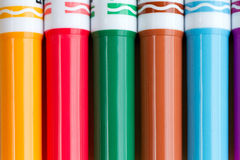 Colouring pens royalty free stock image
