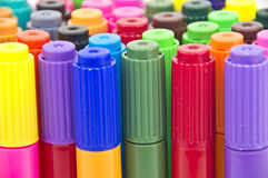 Colouring pens close-up Stock Photography